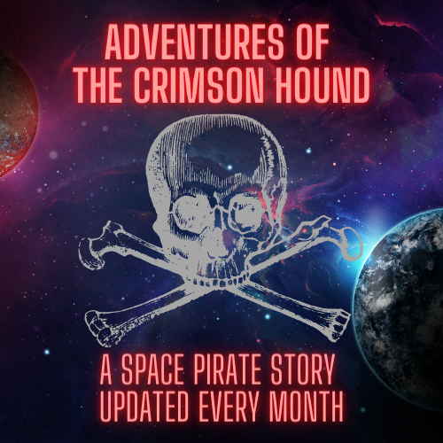 webpage for adventures of the crimson hound short story series